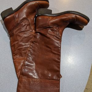 Armuse Brown Leather Knee-High Boots sz8 8.5